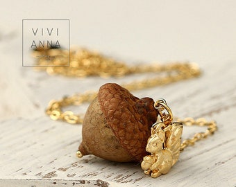 Core of Nature IV gilded nut chain K431