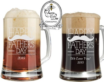 FATHER'S DAY GIFT-16 ounce beer mugs, laser engraved, free engraving, father's day, custom gift