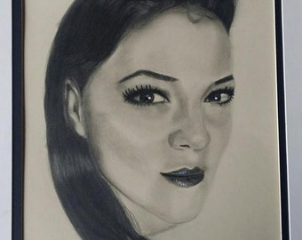 Personalized Custom Pencil and Charcoal Realistic Portrait, Graphite Drawing, Photo Realistic Portrait