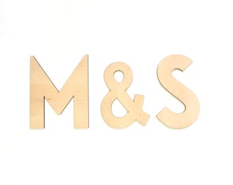 Wedding backdrop letters Bride and Groom initials Monogram letters set of 3 wedding letters sign