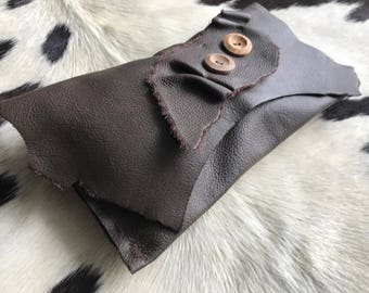 Leather handbag, purse, clutch bag, bags and purses.
