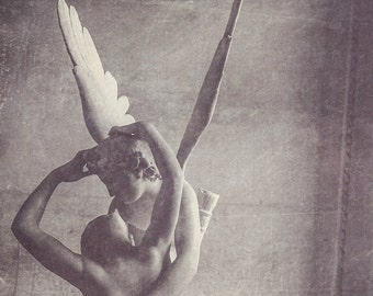 Cupid and Psyche Black & White Photograph | Paris | Wall Art | Home Decor | Affordable Art | Vintage Decor | Valentine's Day | Love