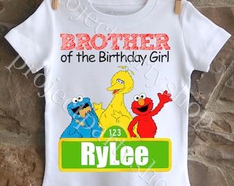 Boys Sesame Street Brother Shirt, Sesame Street Birthday Shirt