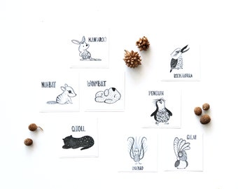 Removable Fabric Sticker Mini Decals - Aussie Animals (Pack of 8)