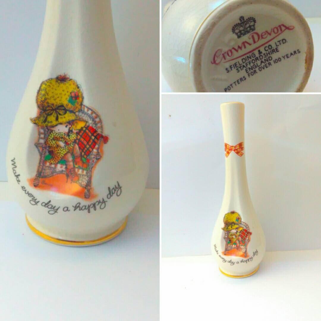 70s 1970s crown devon kitsch pottery vase holly hobbie description kitsch 18cm holly hobbie pottery vase reviewsmspy