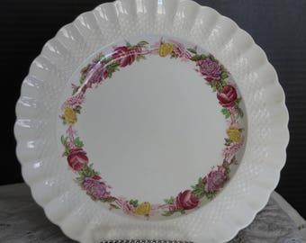 """Copeland Spode/Rose Briar/Chelsea Wicker Design/10 3/8"""" Diameter/Dinner Plate/Made in England"""