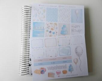 It's My Birthday  - set of 29 stickers perfect for Erin Condren Life Planner, Kikki K or Filofax Planner
