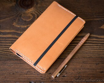 DISCOUNT Leuchtturm 1917 Pocket (A6) hardcover notebook cover, bridle leather - tan