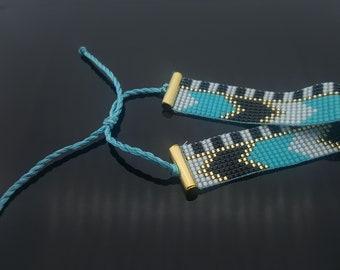 Loom beaded bracelet - Handmade