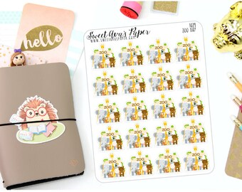 Zoo Day Planner Stickers - Mom Life Planner Stickers - Stickers For Kids - Stickers for Moms - Zoo Vist Planner Stickers - 1029