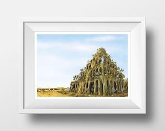 Hanging Gardens of Babylon - Signed print