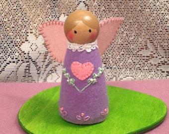 Light Purple Valentine Peg Doll Fairy