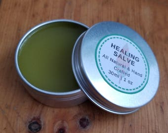 Healing Salve for Cuts, Scrapes & Burns | Anti-Bacterial Ointment | Herbal Salve | First Aid Ointment | Anti-Septic Salve