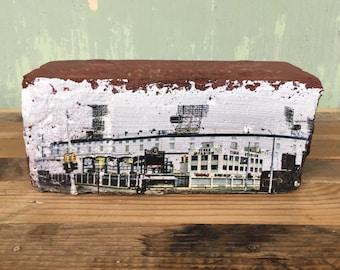 Tiger Stadium Brick, Original photographic print on Historic Detroit Corktown Paver Brick