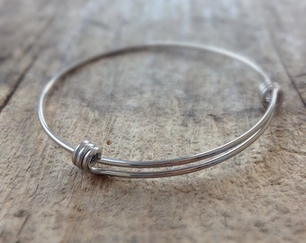 50mm SMALL Stainless Steel Expandable Bangles, Bracelet Blanks, Stainless Steel Bangle Bracelets, Hand Stamping Supply