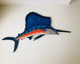 4' Wooden Sailfish