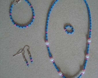 Set of dog jewelry for girl