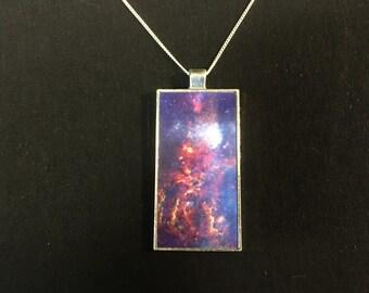Custom Photo Rectangle Pendant Necklace