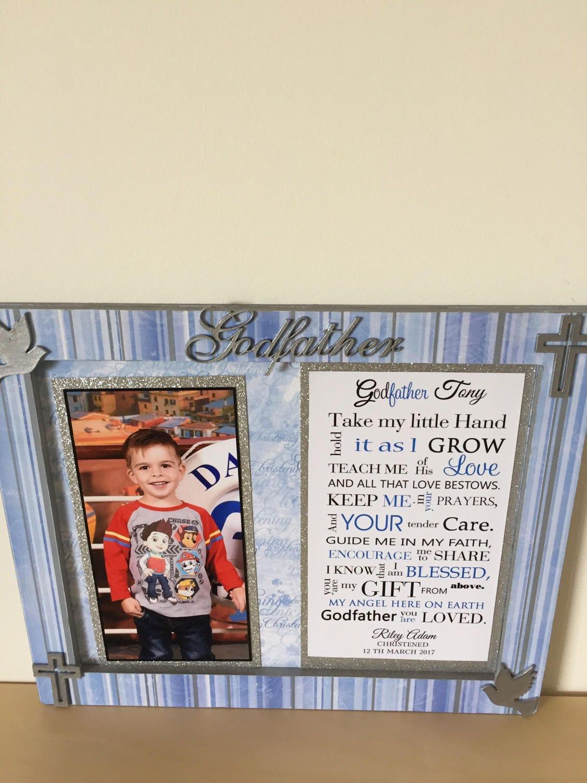 Godfather frame, 8x10 photo frame, decorated frame, godfather gift ...