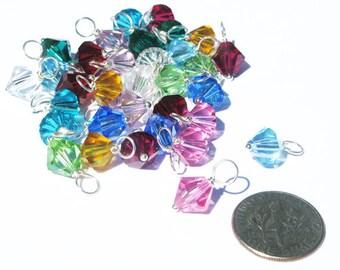 4mm,6mm,8mm Birthstone Swarovski Crystals,Swarovski Dangles,Birthstone Charms,Wire Wrapped,Sterling Silver,Bicone,Add On,Birthstone,Crystals