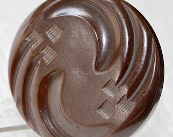 Brown Bakelite Button