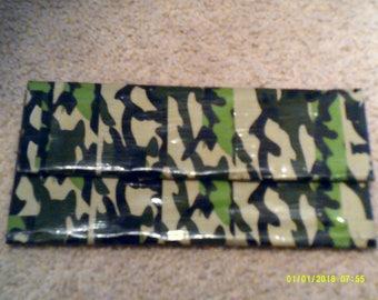 Duct tape clutch wallet