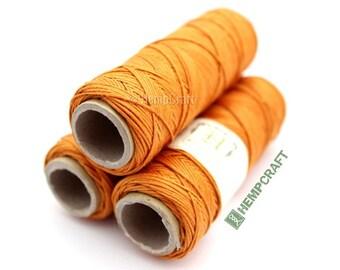 Thin Hemp Twine, Orange Micro Macrame Cord, High Quality .5mm Hemp Beading Cord