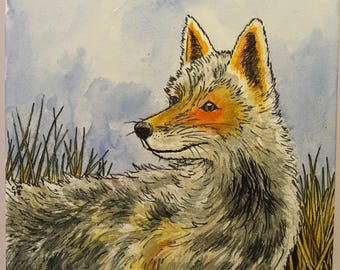 Fox Watercolor
