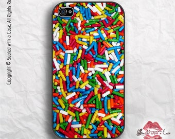 Rainbow Ice Cream Candy Sprinkles - iPhone 4/4S 5/5S/5C/6/6+ and now iPhone 7 cases!! And Samsung Galaxy S3/S4/S5/S6/S7