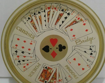 Vintage Playing Card Drink Tray