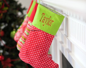 Christmas Stockings, Personalized Stockings, Embroidered Stockings, Free Personalization