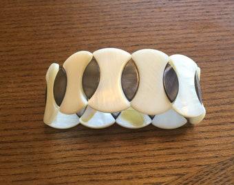 Mother of pearl stretch bracelet, Adjustable