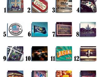 Iconic Louisiana Stone Coaster Set - Pick any 4 images - 16 to choose from