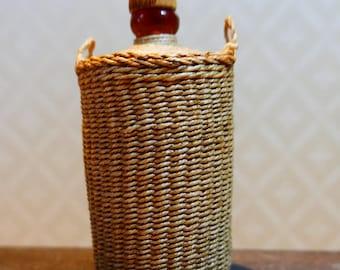 Woven bottle, dollhouse miniature