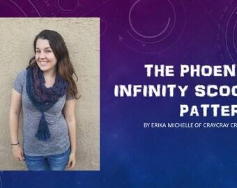 PATTERN: Phoenix Infinity Scood // Crochet Pattern // Infinity Scarf Pattern // Hooded Scarf Pattern // Easy Crochet Pattern