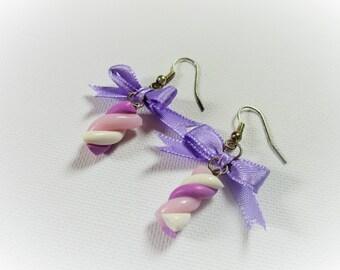 Polymer clay Marshmallow earrings