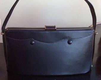 Very Cute vintage 1950s/60s Plastic Handbag Rockabilly, Vegan,