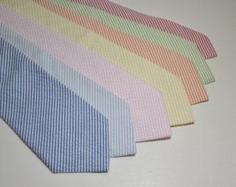 Boy's Neckties - Seersucker Ties - Lots of Colors Available