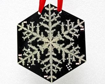 Snowflake Circuit Board Ornament - Interactive