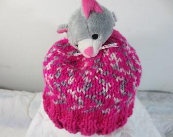 Child Hat plush cat