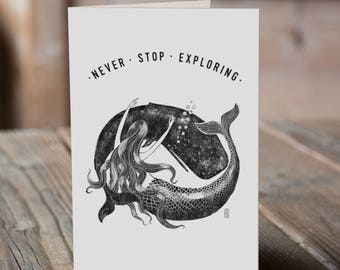 Mermaid & Whale - Never Stop Exploring