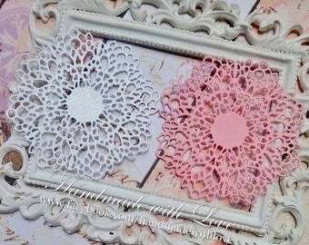 Lace Doily, 1 pack of 10pcs. Perfect for your card making, scrapbooking, and many other papercrafting projects!