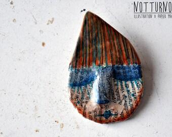 Paper Mache Brooch