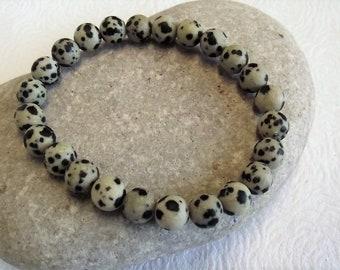Dalmation Jasper Stretch Bracelet