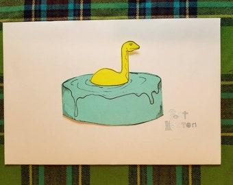 Loch Ness Monster Post-it Print