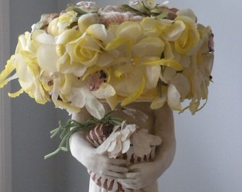 Vintage Box Style Flower Hat