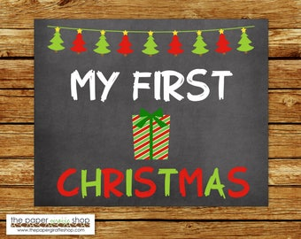 My First Christmas Sign | Baby's First Christmas Chalkboard Sign | My First Holiday Signs | Baby's 1st  Holiday | Christmas Present