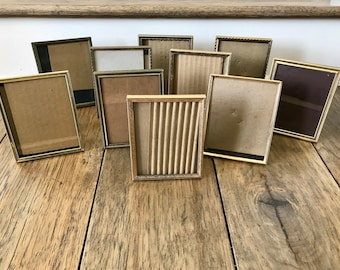 Gold Frames Brass Picture Frame Small Frames 4x5 Picture Frame Table Number Holders Small Picture Frames Metal Frames Vintage Frames Bulk 10