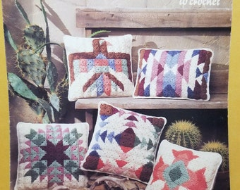 Painted Desert Pillows to Crochet by Leisure Arts 1990