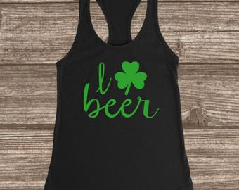 I love beer St. Patrick's Day T-shirt-Tank Top